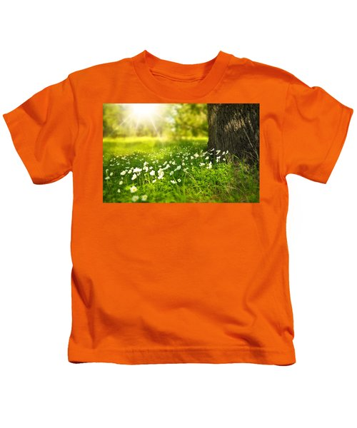 Field Of Daisies Kids T-Shirt