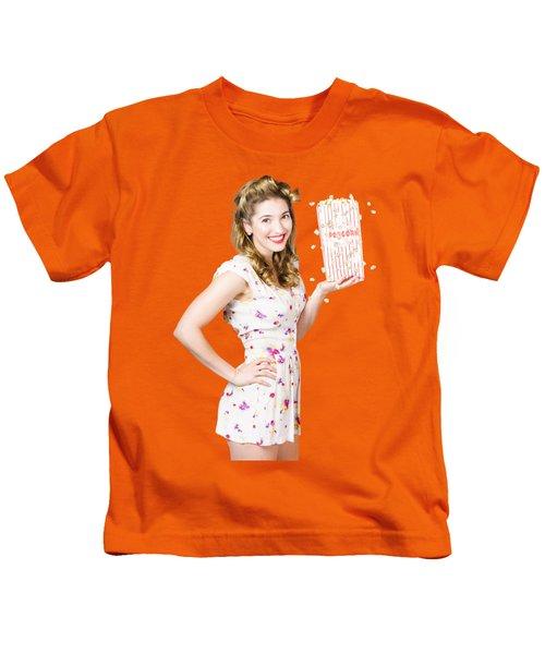 Film And Cinema Pin-up Lady Kids T-Shirt