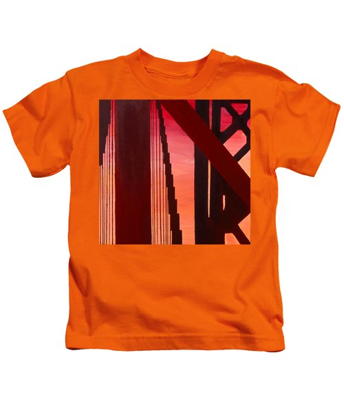 Golden Gate Art Deco Masterpiece Kids T-Shirt