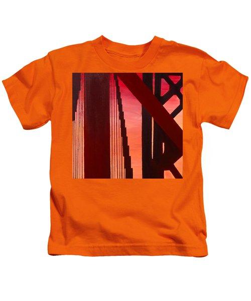 Golden Gate Art Deco Masterpiece Kids T-Shirt