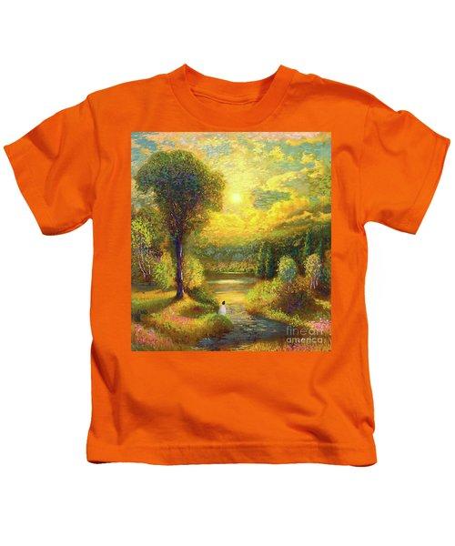 Golden Peace Kids T-Shirt