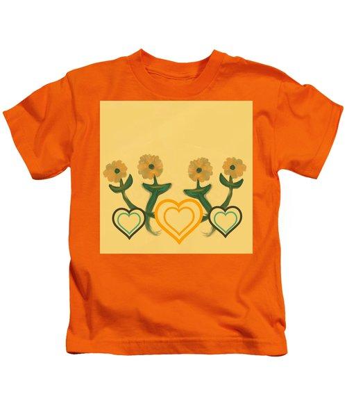 Hearts Bronze Kids T-Shirt