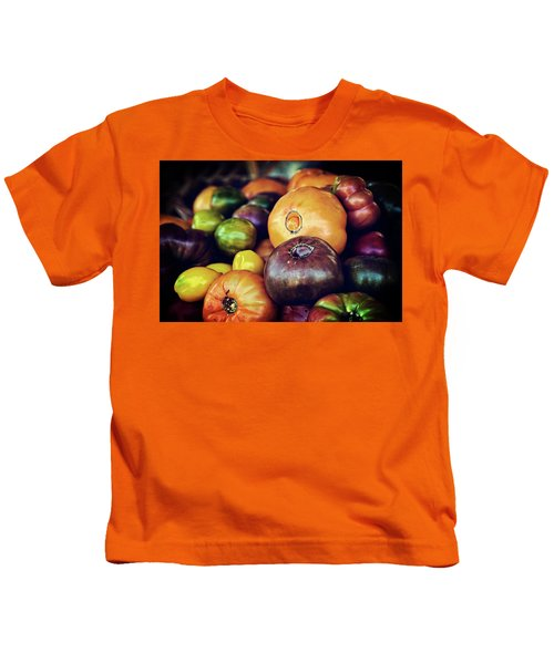 Heirloom Tomatoes At The Farmers Market Kids T-Shirt