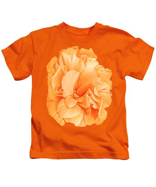 Hibiscus Rosa Double Petaled Yellow Kids T-Shirt