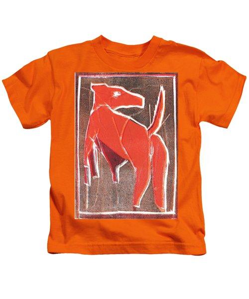 I Was Born In A Mine Dog 29 Kids T-Shirt