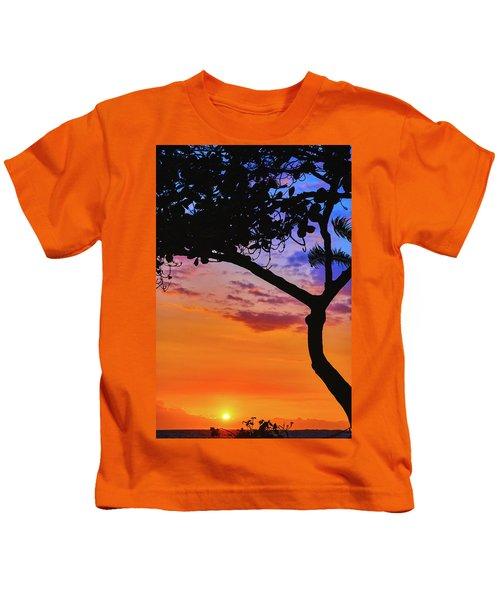 Just Another Kona Sunset Kids T-Shirt
