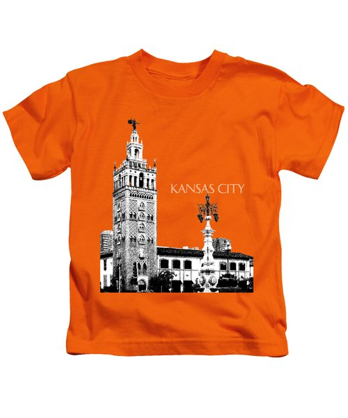 Kansas City Skyline 2 - Dark Orange Kids T-Shirt