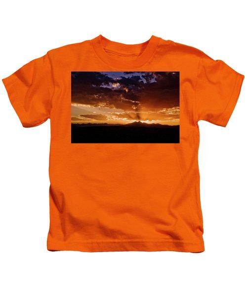 Longs Peak Sunset Kids T-Shirt