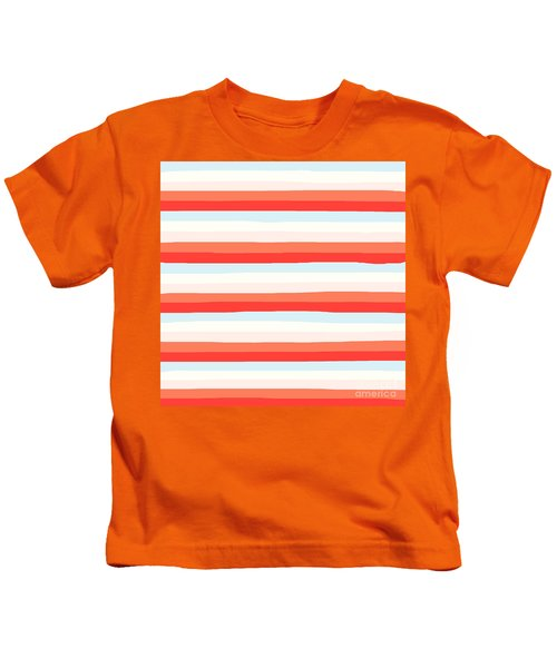 lumpy or bumpy lines abstract and colorful - QAB266 Kids T-Shirt