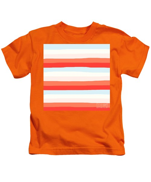 lumpy or bumpy lines abstract and colorful - QAB268 Kids T-Shirt
