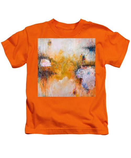 Kids T-Shirt featuring the painting My Mouth Hasn't Shut Up About You Since You Kissed It by Tracy Bonin