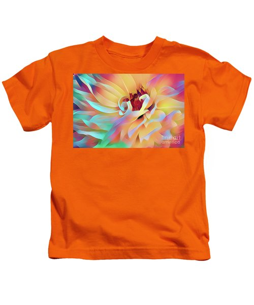 Party Time Dahlia Abstract Kids T-Shirt
