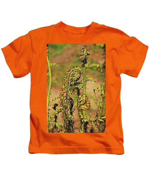 Rivington Terraced Gardens. Fern Frond. Kids T-Shirt