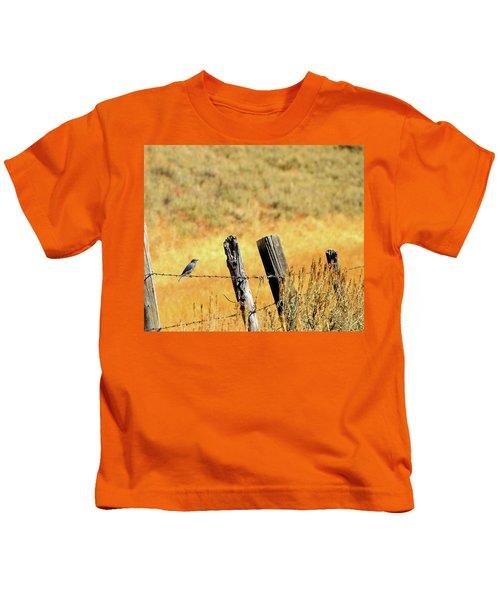 Rocky Mountain Blue Bird Kids T-Shirt