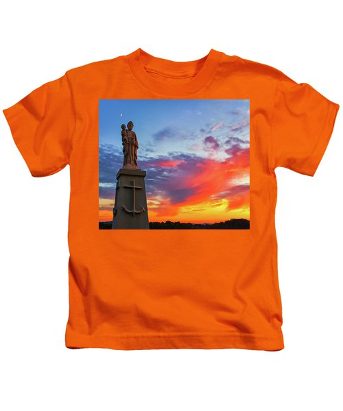 Saint Joseph Sunset  Kids T-Shirt