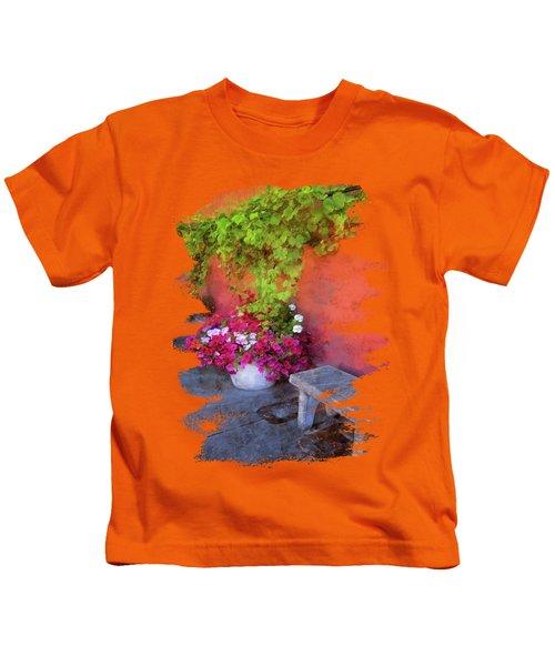 Sidewalk Floral In Brownsville Kids T-Shirt