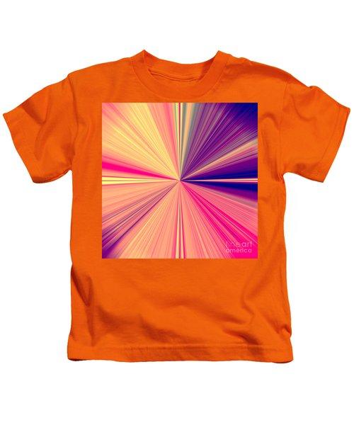 Starburst Light Beams In Abstract Design - Plb457 Kids T-Shirt