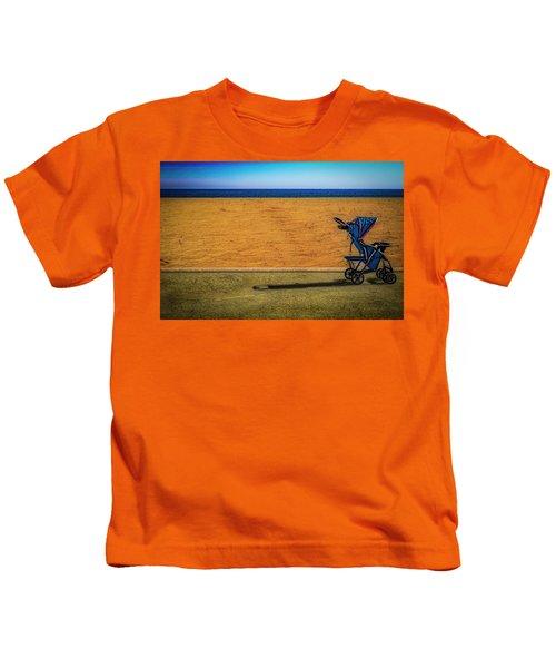 Stroller At The Beach Kids T-Shirt