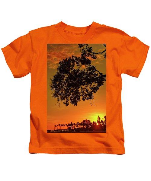 Sunset By The Pier Kids T-Shirt