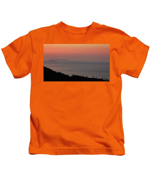 Sunset Of The Olympic Mountains Kids T-Shirt