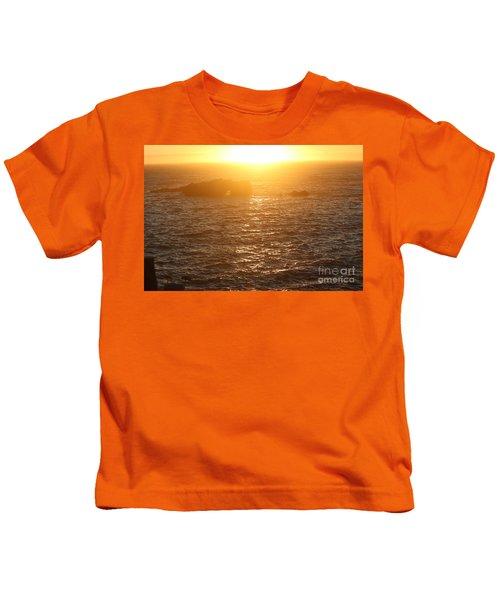 Sunset On The Coast Kids T-Shirt