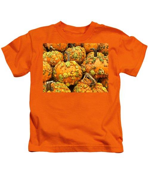 Textured Pumpkins  Kids T-Shirt