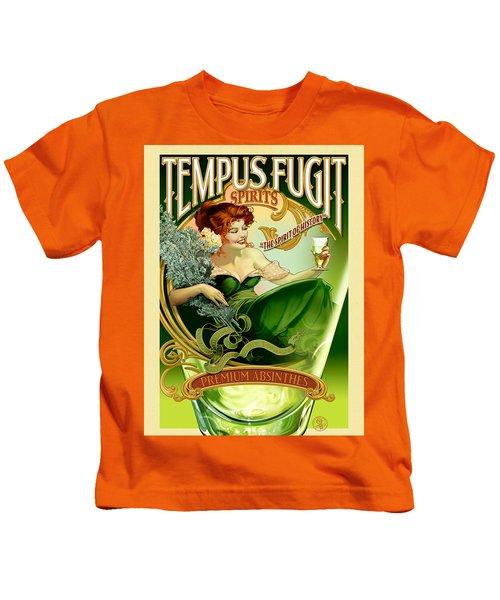 Vintage Poster - Tempus Fugit Absinthe Kids T-Shirt