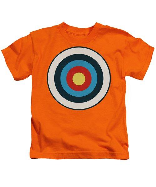 Vintage Target - Orange Kids T-Shirt