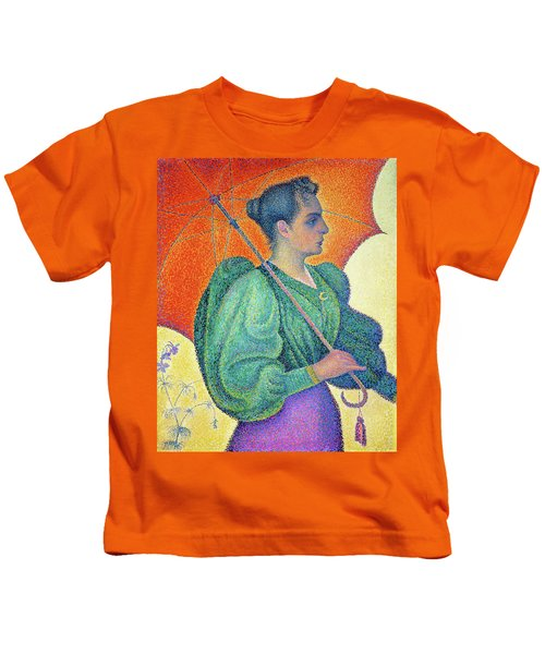 Woman With A Parasol - Digital Remastered Edition Kids T-Shirt