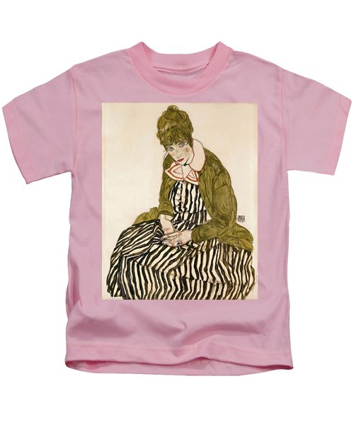 Edith With Striped Dress Sitting Kids T-Shirt