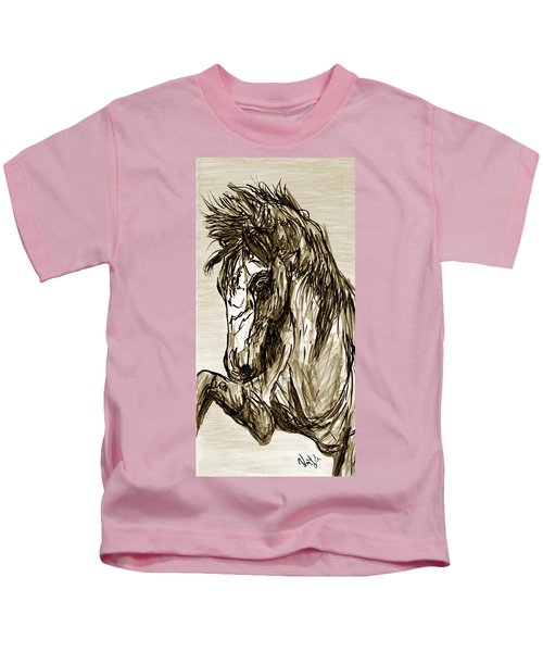 Horse Twins II Kids T-Shirt