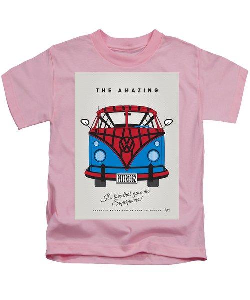 My Superhero-vw-t1-spiderman Kids T-Shirt