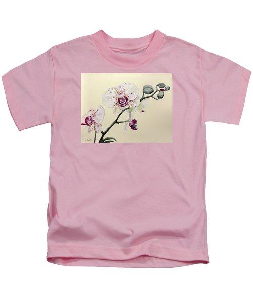 Phalaenopsis Black Panther Orchid Kids T-Shirt