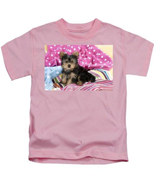 Yorkshire Terrier Puppy Kids T-Shirt