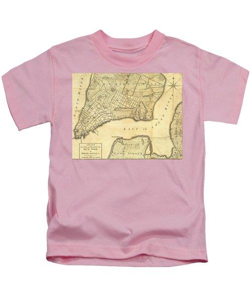 1776 New York City Map Kids T-Shirt