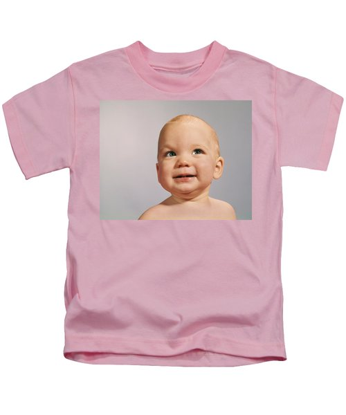 1960s 1970s Baby Portrait With Eyes Kids T-Shirt