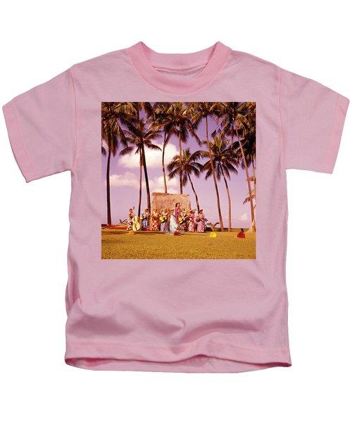 1960s Native Hawaiian Women Performing Kids T-Shirt