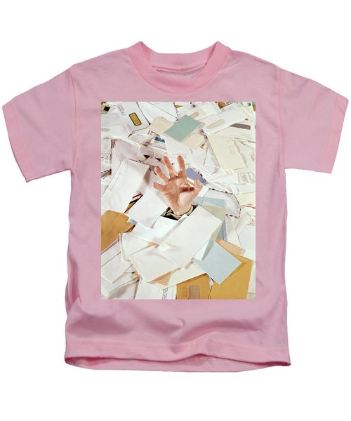 1970s Male Hand Sticking Out From Pile Kids T-Shirt