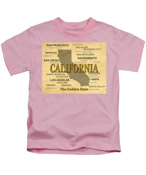 California State Pride Map Silhouette  Kids T-Shirt