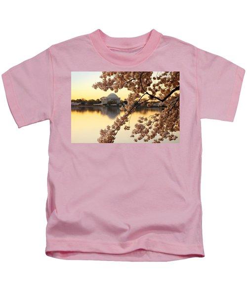 Dawn Over The Jefferson Memorial  Kids T-Shirt