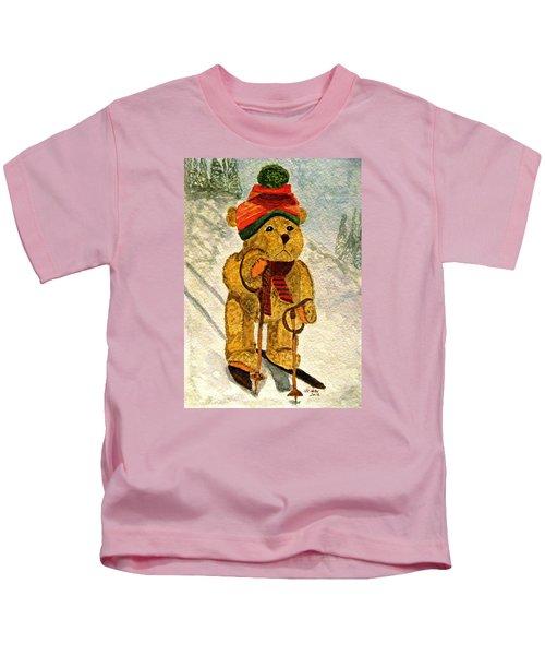 Learning To Ski Kids T-Shirt
