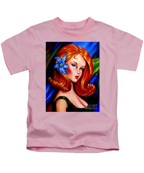 Mod Barbie Redhead Kids T-Shirt