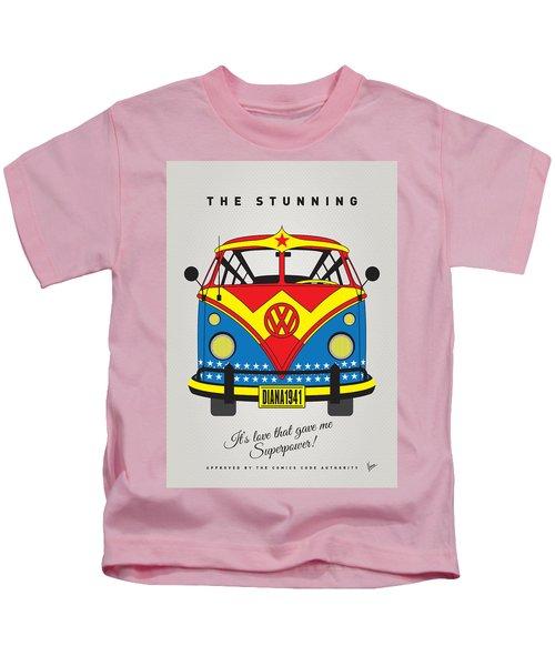 My Superhero-vw-t1-wonder Woman Kids T-Shirt