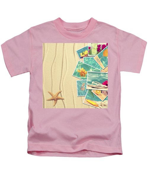 Vacation Postcards Kids T-Shirt