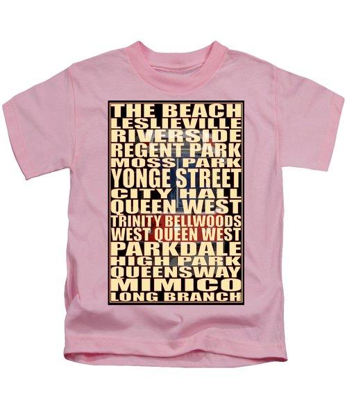 501 Streetcar Toronto Kids T-Shirt