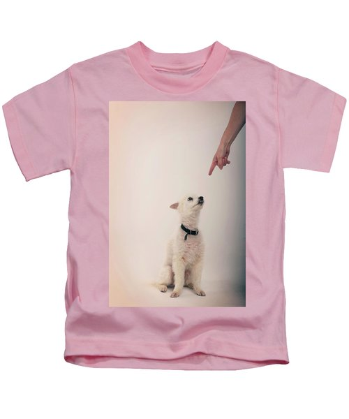 A Pointing Finger Points In A Punishing Kids T-Shirt
