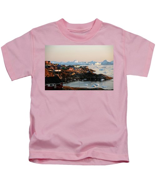 A View Over Houses And The Ilulissat Kids T-Shirt