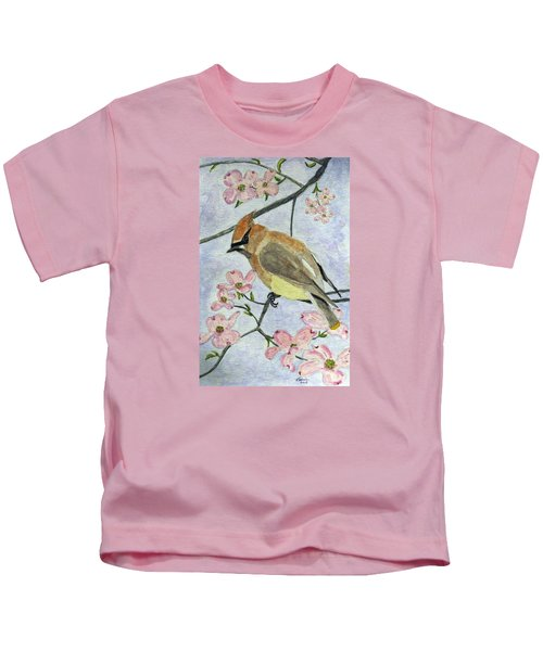 A Waxwing In The Dogwood Kids T-Shirt