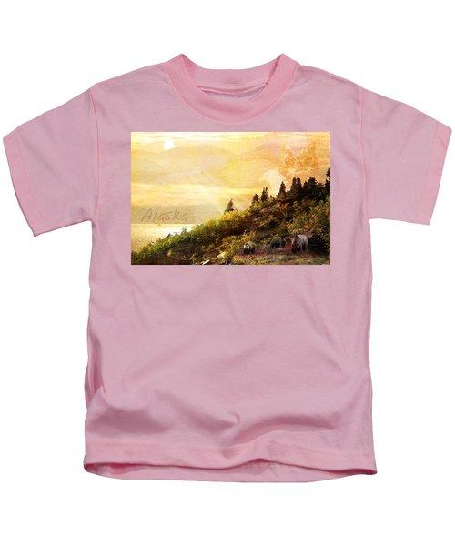 Alaska Montage Kids T-Shirt