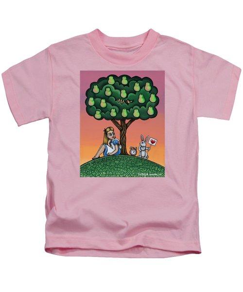 Alice In Wonderland Art Kids T-Shirt